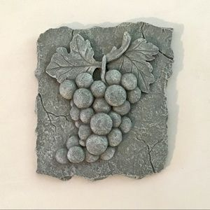 Grapes 3D Wall Or Easel Plaque